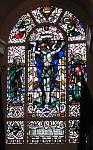 stained glass window in Fort George chapel