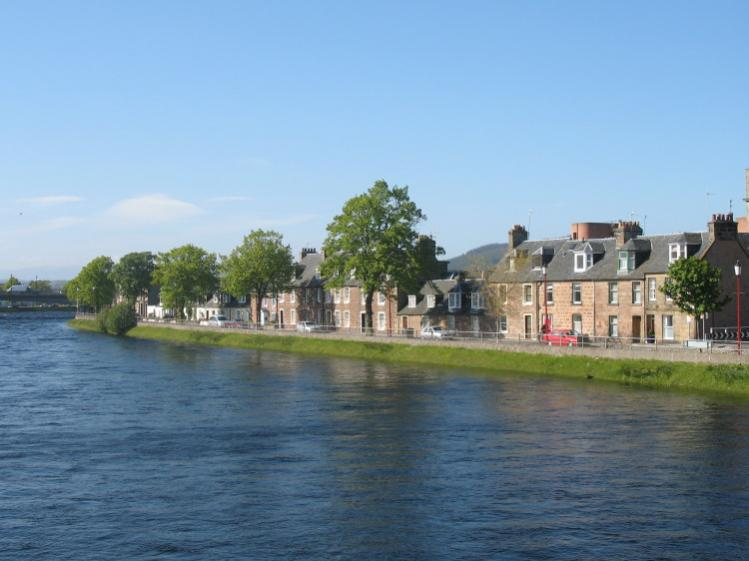 along the River Ness in Inverness