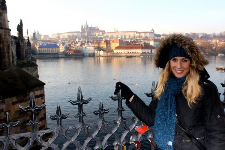Praha over the water