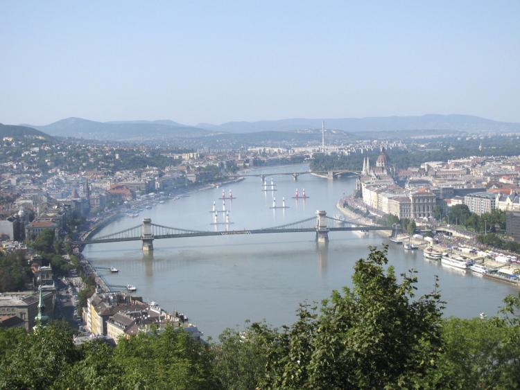 Budapest-River Danube during the Red Bull Air Show