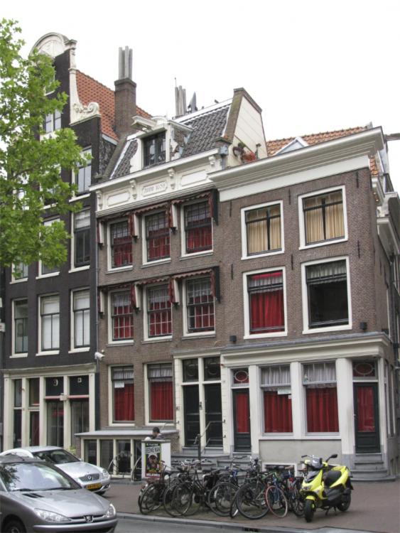 Amsterdam-A section of The Red Light District