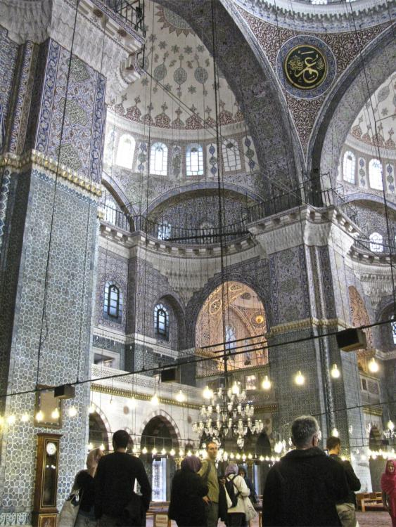 Istanbul-Interior of the Blue mosque