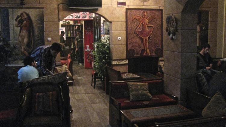 Istanbul-Interior of a nargile bar