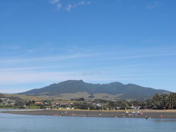 Raglan, Waikato, New Zealand looking towards Mt Pirongia