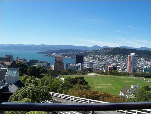 View from top of the cable car - Wellington