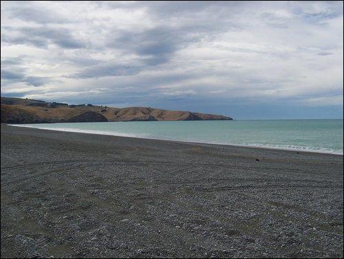 Beach on the way to Akaroa