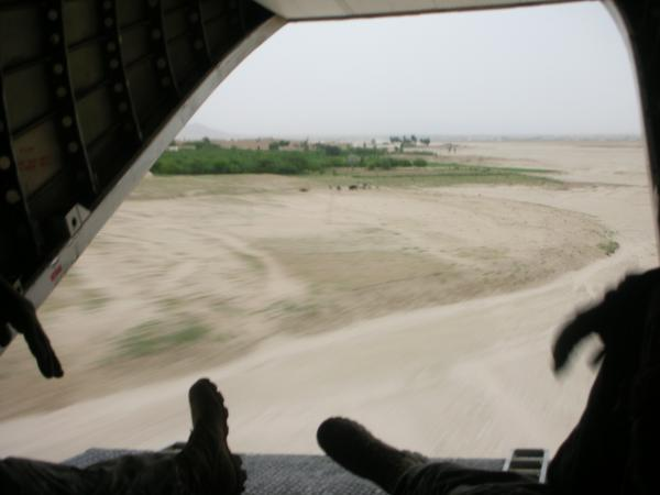 closer view of Ghazni area from the back of the bird