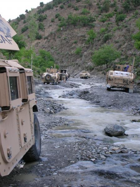 Random creek where we got stuck
