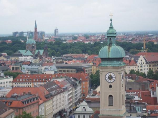 View of Munich as seen from the very top of St. Peters