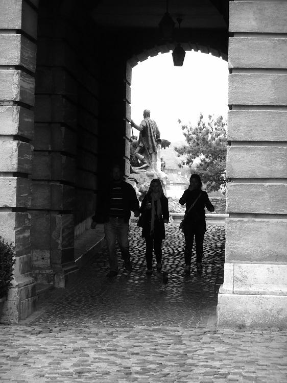 Walkway at the Royal Palace, Budapest, Hungary