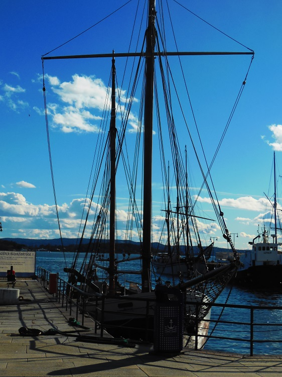 Oslo, Norway.  A view of the bay
