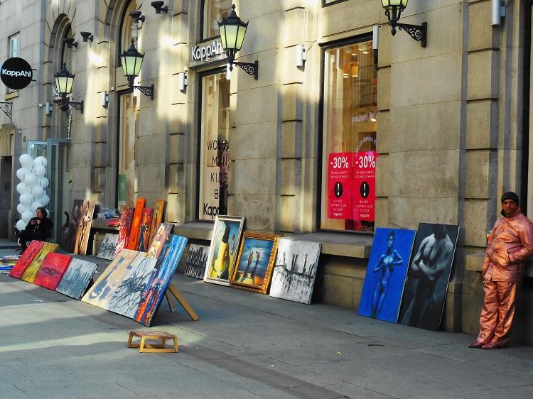 Oslo, Norway.  Art in the street