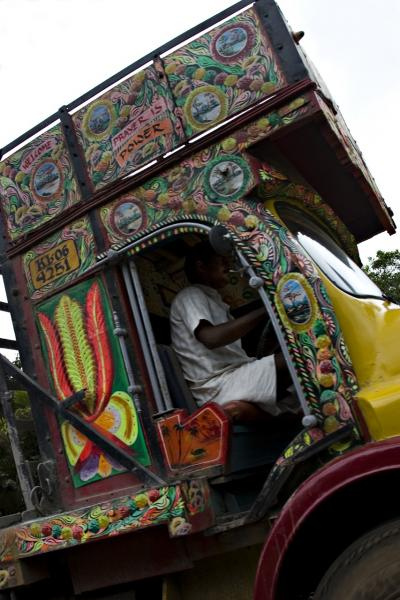 Colorful truck, Cochin, Kerala. Taken with a Canon PowerShot A630. August 2008