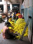 Piles of marigolds, City Market, Bangalore, Karnataka. Taken with a Canon PowerShot A630. August 2008