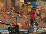 Varanasi.  A Bollywood film in production; the crew was actually staying at the same hotel as me. Taken with a Canon PowerShot A630. November 2006