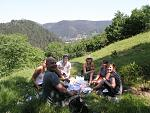 Picnic with the Swedish girls, Brasov  Me, Ellen, Darryn (he's from London), Liina, Sara and Kirrily (she's Australian)  Anna's behind the camera.