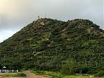 Morning sun shining on Haystack Hill, aka Hooiberg