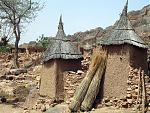 Thatched roofs like witches' hats in Dogon country