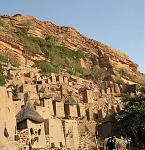 The buildings of the Dogon village of Banani shine in the morning sun