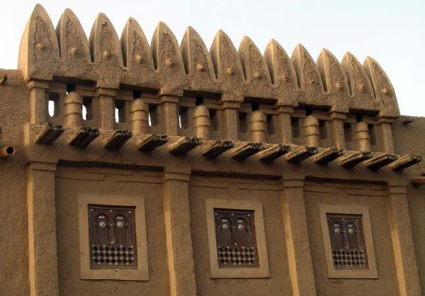 Moroccan Architecture in Djenne -- each conical addition on the roof is supposed to represent another child in the family